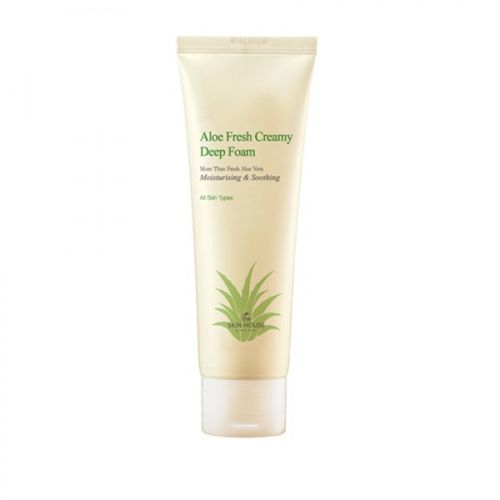 Очищающий мусс с алоэ The Skin House Aloe Fresh Creamy Deep Foam пенка the skin house deep cleansing foam объем 120 мл