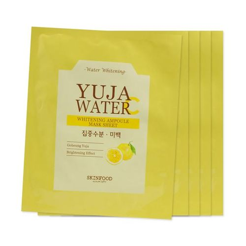 Осветляющая тканевая маска SKINFOOD Yuja Water Whitening Ampoule Mask