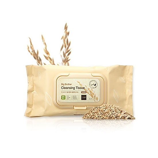 Очищающие салфетки The Saem Big Brother Sprouted Brown Rice Cleansing Tissue