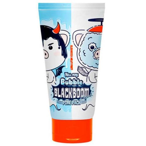 Черная кислородная маска Elizavecca Hell Pore Bubble Blackboom Pore Pack маска caolion pore blackhead eliminating t zone strip