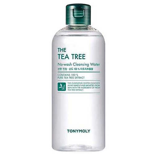 Очищающая вода Tony Moly The Tea Tree No Wash Cleansing Water маска tony moly тканевые маски pureness 100 mask sheet tony moly