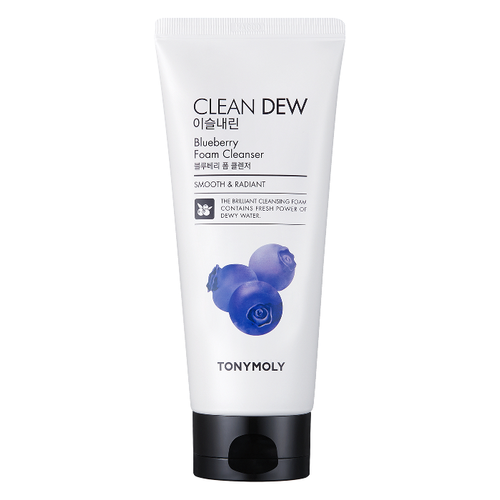 Очищающая пенка с черникой Tony Moly Clean Dew BlueBerry Foam Cleanser маска tony moly тканевые маски pureness 100 mask sheet tony moly