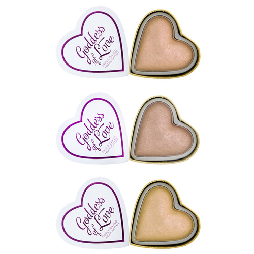 Сияющие румяна MakeUp Revolution I Heart Makeup Highlighter makeup revolution i heart blushing heart unicornspalette хайлайтер