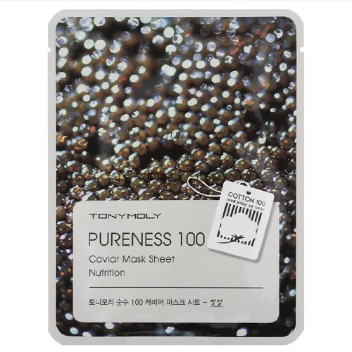 Маска с экстрактом икры Tony Moly Pureness 100 Caviar Mask Sheet tony moly маска для лица pureness 100 green tea mask sheet