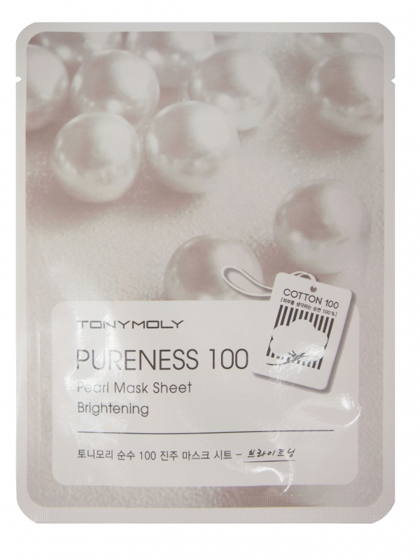 Тканевая маска для лица с экстрактом жемчуга Tony Moly Pureness 100 Pearl Mask Sheet tony moly маска для лица pureness 100 green tea mask sheet
