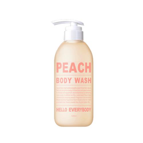 Гель для душа с натуральным экстрактом персика Hello Everybody Peach Body Wash молочный гель для душа the saem body and soul cotton milk body wash