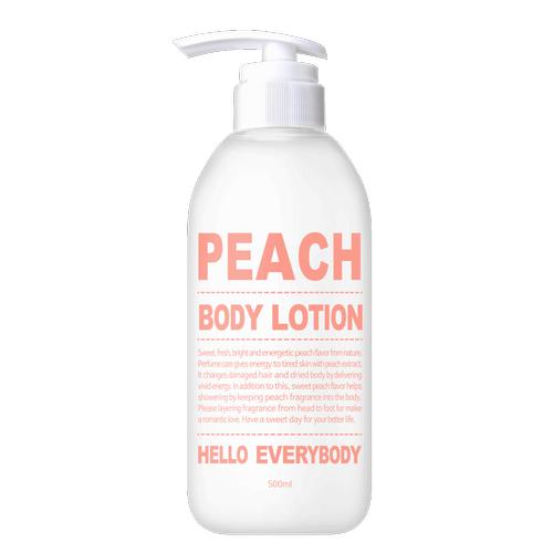 Лосьон для тела с натуральным экстрактом персика Hello Everybody Peach Body Lotion лосьон baviphat touch my body lotion