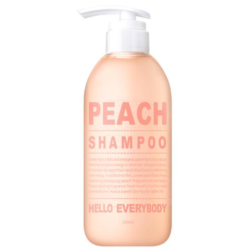 Шампунь для волос с персиком Hello Everybody Peach Shampoo памперсы hello для взрослых