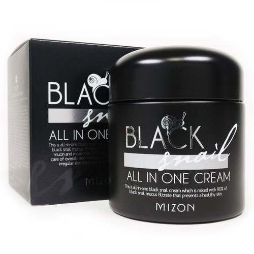 Улиточный крем с набором восточных трав Mizon Black Snail All In One Cream mizon black snail all in one cream 75ml repair cream deep moisturizing anti wrinkle remover acne snail face cream korea cosmetic