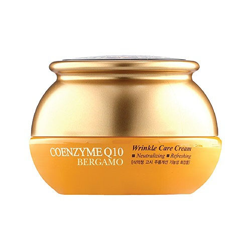 Омолаживающий крем с коэнзим Q10 Bergamo Coenzyme Q10 Wrinkle Care Cream co q10 98% coenzyme q10 500g package