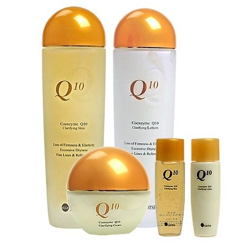 Набор средств с коэнзимом Q10 Bergamo Ellelhotse Coenzyme Q10 Skin Care Set co q10 98% coenzyme q10 500g package