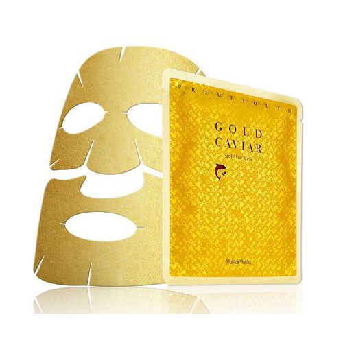 Тканевая маска из золотой фольги Holika Holika Prime Youth Gold Caviar Gold Foil Mask маска для лица holika holika holika holika ho009lwgxb00