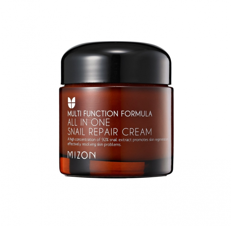 Восстанавливающий улиточный крем Mizon All In One Snail Repair Cream mizon black snail all in one cream 75ml repair cream deep moisturizing anti wrinkle remover acne snail face cream korea cosmetic