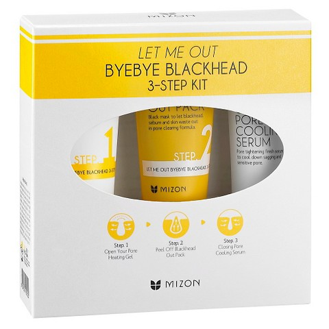 Трехступенчатый набор по-уходу за кожей лица Mizon Let Me Out Bye Bye Blackhead 3-Step Kit professional point noir blackhead vacuum extractor face facial vacuum pore cleaner blackhead remover tool skin pore peeling