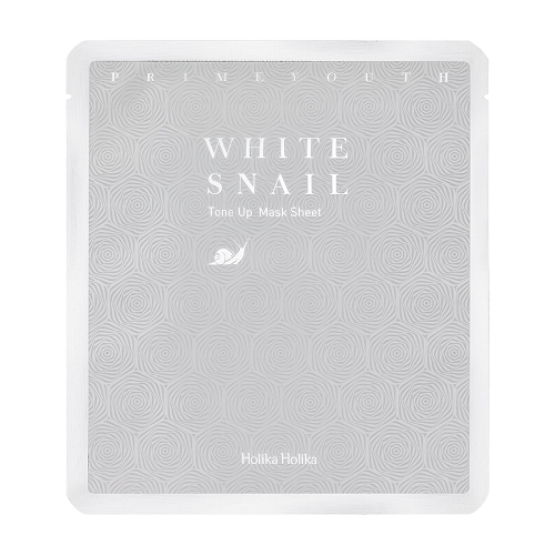 Осветляющая маска для лица Holika Holika Prime Youth White Snail Tone Up Mask Sheet восстанавливающая улиточная эссенция holika holika prime youth black snail repair essence