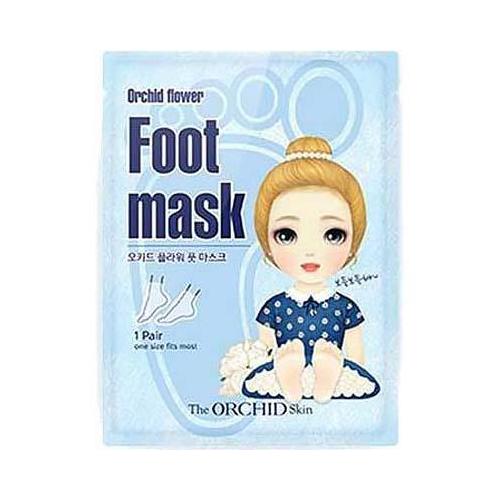 Тканевая маска-носочки для ног The Orchid Skin The Orchid Skin Foot Mask Sheet courtin маска спа для ног courtin pedicure spa foot mask 41120 250 г