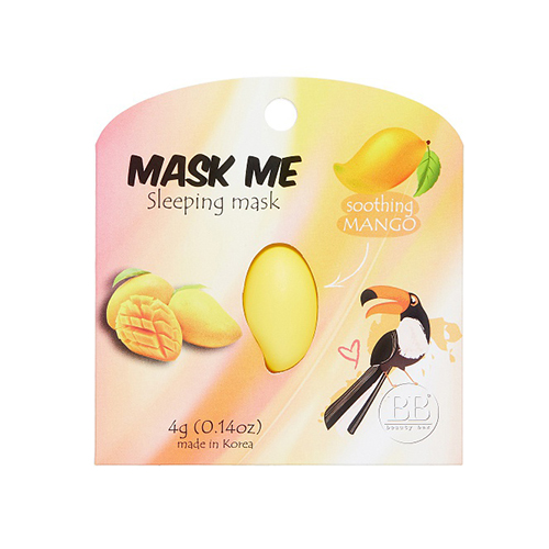 Ночная успокаивающая маска Beauty Bar Mask Me Sleeping Mask Soothing Mango pomegranate sleeping mask sans rincage moisturizing whitening brightening nourishing replenishment beauty salon 1000g