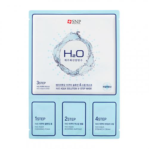 где купить 4-ступенчатая увлажняющая маска для лица SNP H2O Aqua Solution 4 Step Mask по лучшей цене