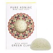 Pure Konjak Mini Face Puff French Green Clay