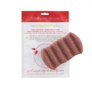 Konjac 6 Wave Bath Sponge With Red Clay