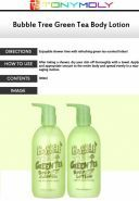 Bubble Tree Green Tea Body Cleanser description
