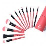 12P COC Pink In Pink Make Up Brush Set